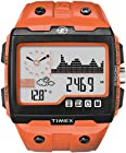 Timex T49761EW Mens Expedition WS4 Orange Resin Strap Watch