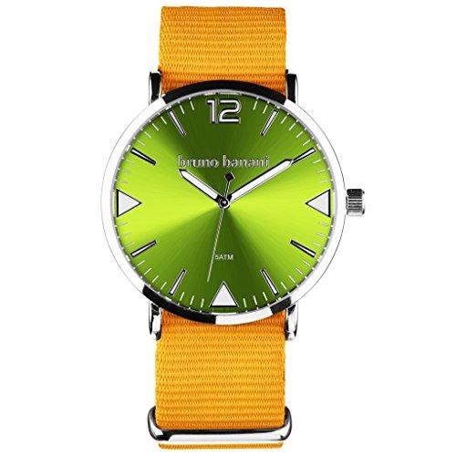 Bruno Banani BR30061Cool Color Watch Unisex Analogue Air Band Metal 50m orange/green