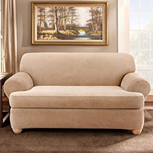 Amazon Sure Fit Stretch Stripe 2 Piece T Sofa