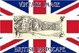 3 inch x 2 inch (7.5cm x 5cm) Acrylic Keyring British Landscape The Castle Skipton Yorkshire