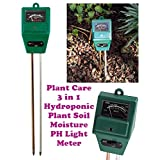 New-Plant Care New 3 In 1 Hydroponic Plants Soil Moisture PH Light Meter, Tester