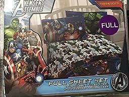 Marvel Avengers Assemble 4 Piece Full Sheet Set
