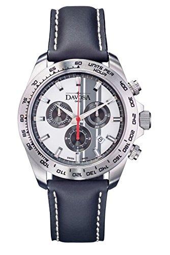 Davosa 16248815 Montre bracelet Hommes, Cuir, couleur: Noir