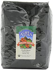 Cafe Altura Whole Bean Organic Coffee, House Blend, 5 Pound