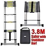 New 3.8m Telescopic Ladder Aluminium...