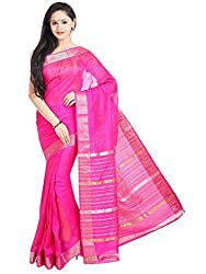 Anagha Handloom Mangalagiri Silk-Cotton Saree - Pink