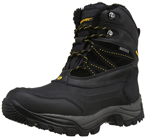 Hi-Tec Snow Peak 200 Waterproof, Stivali da neve uomo, Colore Nero (Black/Gold), Taglia 9 UK (43 EU)