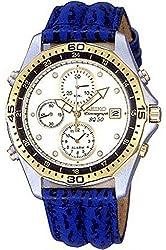 SEIKO SDW746P1,Men's Alarm Chronograph,Brand New Old Stock,Metal Case,Blue Strap,50m WR,SDW746