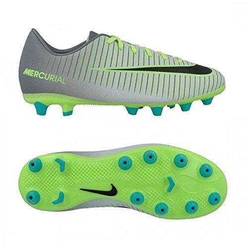 Nike JR MERCURIAL VAPOR XI AG - Scarpe da ginnastica Bambino, Argento, 36