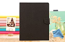CZap Mercury Diary Goospery Card Wallet Flip Cover Back Case for Samsung Galaxy Tab 4 T230 - Black