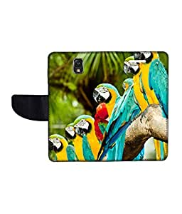 KolorEdge Printed Flip Cover For Samsung Galaxy Note 3 Neo Multicolor - (55KeMLogo11082SamN750)