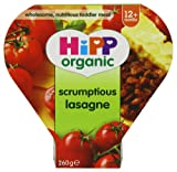 HiPP Organic Stages 3 and 4 12+ Growing up Meal Scrumptious Lasagne 4 x 260 g (Pack of 2, Total 8 Pots)