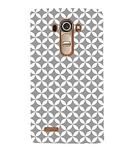 Grey Self Design 3D Hard Polycarbonate Designer Back Case Cover for LG G4 :: LG G4 H815