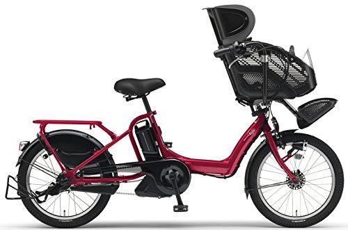 YAMAHA(ヤマハ) PAS Kiss mini XL チャイルドシート付き電動自転車 20インチ 2015年モデル [12.8Ahリチウムイオン電池、トリプルセンサーシステム、急速充電器付] アビスレッド PM20KXL