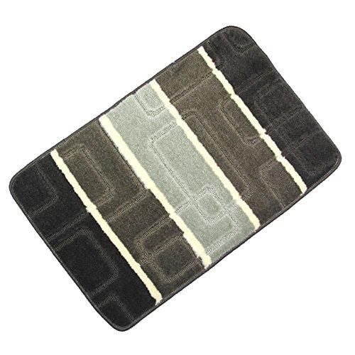 Amariver Jacquard Weave Door Mat Bedroom Rug Kitchen Carpet Bath Rug Super Anti-slip Embossed Carpet with Square Pattern (COLOR1)
