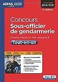 Concours Sous-officier de gendarmerie - Catégorie B - Tout-en-un - Concours 2016-2017...