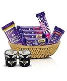 #6: Cadbury Assorted Chocolates Diwali Tokri, 254g - With Glass Diya