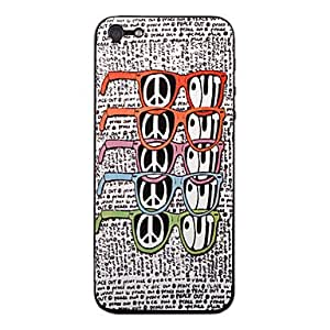 Colorful Eyeglasses Pattern Front and Back Protector Stickers for iPhone 5
