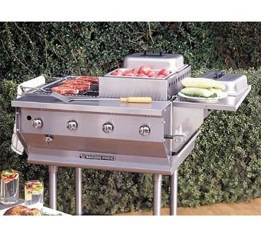 Bakers Pride CBBQ Ultimate Outdoor Gas Char Broiler, 31 x 34 x 16 inch -- 1 each.
