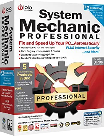 iolo System Mechanic Professional 10 - 3 Computers, 1 Year Subscription (PC)