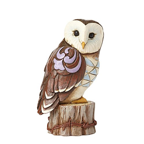Enesco Jim Shore HWC Mini Owl On Stump Figurine
