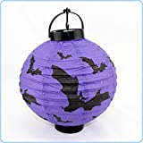 NIUTOP® Portable Fashion Purple Halloween Paper Lantern Jack-o-lantern Spirit Festival Decoration (Purple)