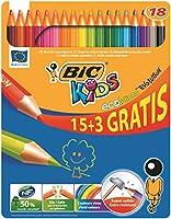 Bic Kids Ecolution Evolution Crayon de couleur Boîte métal 15+3 Gratuits