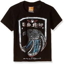 Little Kangaroos Baby Boys' T-Shirt (11055_Black_1 year)