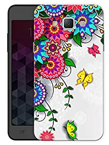 """Humor Gang Flowers And Circles Art Printed Designer Mobile Back Cover For """"Samsung Galaxy E5"""" (3D, Matte, Premium Quality Snap On Case)"""