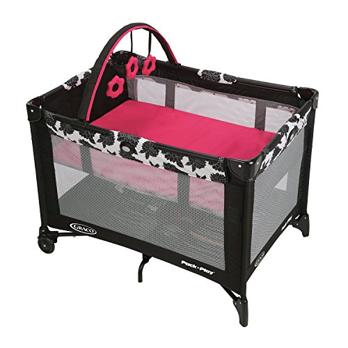 Graco Pack N Play Playard with Automatic Folding Feet, Azalea
