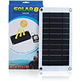 SUNKINGDOM™ 8W 5V Portable Ultra-thin Solar Panel Charger USB Output Solar Battery Charger for Travel Camping Compatible with Phone,Samsung,Power bank or Any Other USB Device (8W/5V)