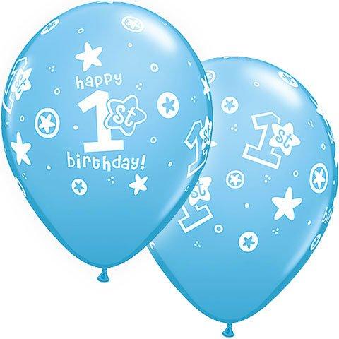"11"" 1st Birthday Circle Stars"
