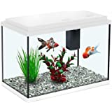 All Pond Solutions Aquatlantis Funny Fish 35 Aquarium Fish Tank 15, Small/ Large, White