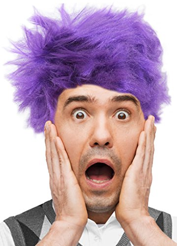 Costume Adventure Purple Frizz Fearful Feelings Character Costume Wig