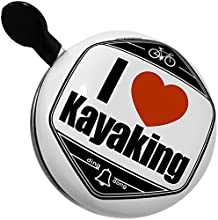 Bicycle Bell I Love kayaking by NEONBLOND