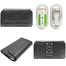 DMG Durable Cell Phone Pouch Carrying Case with Belt Clip Holster for Samsung Galaxy V Plus (Black) + 2600 mAh Power Bank