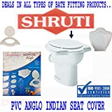 SHRUTI Pvc Anglo Indian Heavy Duty Toilet Comord Seat Cover- White (2261)
