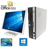 【Microsoft Office2010搭載】【Win 10搭載】富士通D5290/新世代Core 2 Duo 2.93GHz/メモリ4GB/HDD500GB/DVDドライブ/中古デスクトップパソコン (19インチ液晶セット)