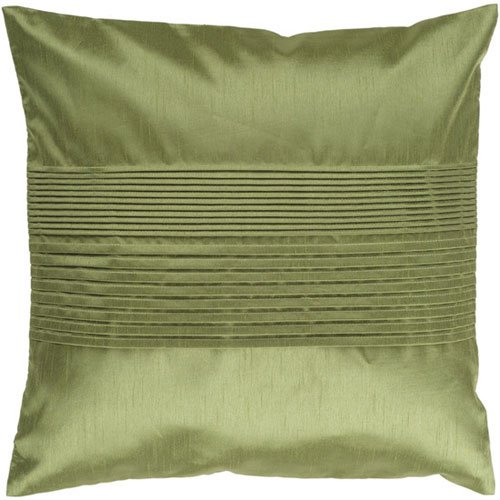 Surya Inc Luxury Pillow in Avocado Green with Poly Fill 22 x 22