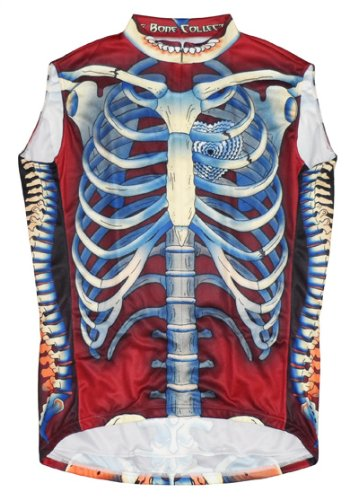 Buy Low Price Primal Wear Bone Collector Skeleton Cycling Jersey Men's Sleeveless in Deep Burgandy (B008GFOZNE)