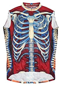 Primal Wear Bone Collector Skeleton Cycling Jersey Mens Sleeveless in Deep Burgandy by Primal