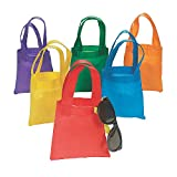Fun Express Poly Non-Woven Party Tote Bags - 6 Inches - 12 Piece Pack