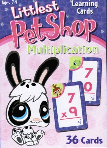 Littlest Pet Shop Learning Flash Cards - Multiplication for Ages 7-9