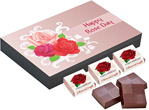 CHOCOCRAFT ,Rose Day Chocolates , 6 Chocolate Gift Box , Gifts for Rose Day