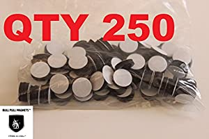 "Magnets -Economy 1/2"" Round Disc with Adhesive Backing~ 250 Pcs!"