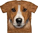 Big Face Jack Russell Terrier T-Shirt-M Brown