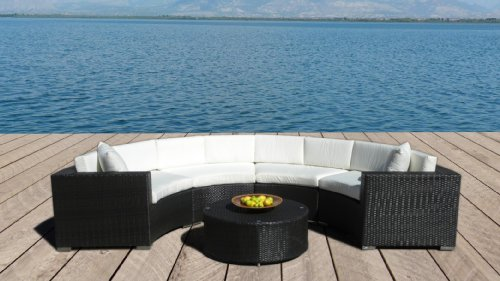 Outdoor Patio Furniture Wicker Sofa Sectional Round 5pc Resin Couch Set From Mango Home At The