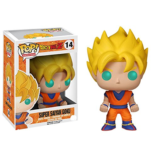 Funko Dragon Ball Z Super Saiyan Goku Pop  0849803038076 Figurina, 10cm