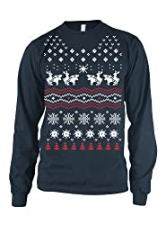Humping Moose LONG SLEEVE Shirt funny Christmas tee ugly sweater shirt from Crazy Dog Tshirts