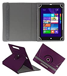 ACM ROTATING 360° LEATHER FLIP CASE FOR NOTION INK CAIN 10 TABLET STAND COVER HOLDER PURPLE